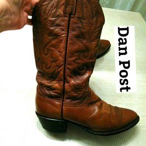 Dan Post Brown Cowboy Boots Sz 19 R